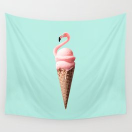 FLAMINGO CONE Wall Tapestry