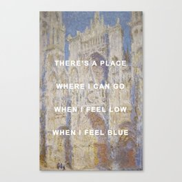 There's A Cathedral Canvas Print