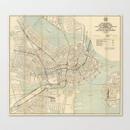 Boston Map Canvas Prints Society6