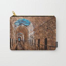 Prison Corridor - Sepia Blues Carry-All Pouch