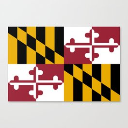 Maryland State Flag, Hi Def image Canvas Print
