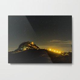 Canossa Castle in an Italian summer night Metal Print