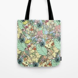 Muted In Bloom Tote Bag