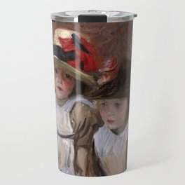 John Singer Sargent - Village children Travel Mug