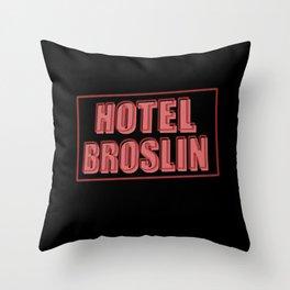 Hotel Broslin Throw Pillow