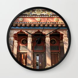 Main Entrance. Buddhist traditional sangha of Russia. Wall Clock