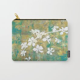 Falling Cherry Blossom Carry-All Pouch