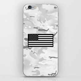 Arctic Camouflage: Black Flag iPhone Skin