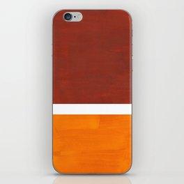 Burnt Sienna Yellow Ochre Rothko Minimalist Mid Century Abstract Color Field Squares iPhone Skin