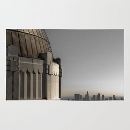 Griffith Park Observatory with Downtown LA Skyline Rug