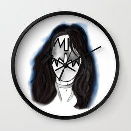 Kiss Ace Rock Icon Silhouette Wall Clock