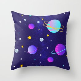 Stars,moons and planets Throw Pillow