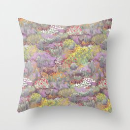 Life in Death Valley Throw Pillow