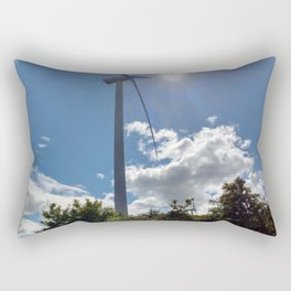 Wind Farm in the Sun Rectangular Pillow