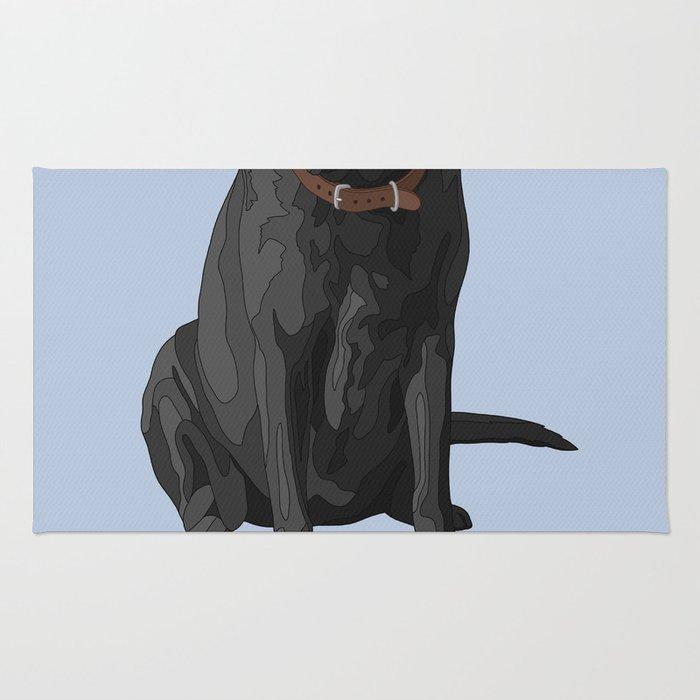 Lab Dad Black Labrador Retriever Rug