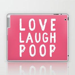 Love Laugh Poop Laptop & iPad Skin