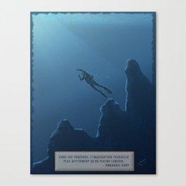 Le plongeur Canvas Print