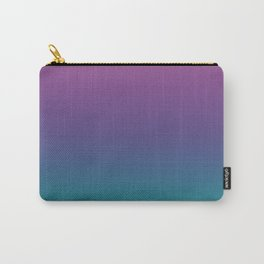 Ombre Ultra Violet Green Pattern | Trendy colors of the year 2018 Carry-All Pouch