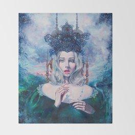 Self-Crowned Throw Blanket