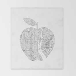 New York City big apple Poster black and white I Heart I Love NYC home decor bedroom wall art Throw Blanket