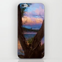 Ozark Sunrise Digital Watercolor Pastels Painting iPhone Skin