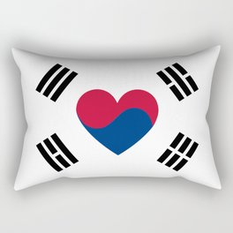 South Korean Heart Flag Rectangular Pillow