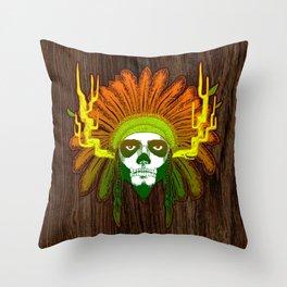 Skully Throw Pillow