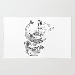 Mermaid and dolphin Rug