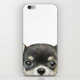 Chihuahua mix color Dog illustration original painting print iPhone Skin