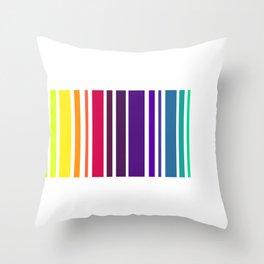 Code Rainbow Throw Pillow