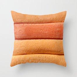 Orange Peach Colored Bubble Gum Layers Throw Pillow