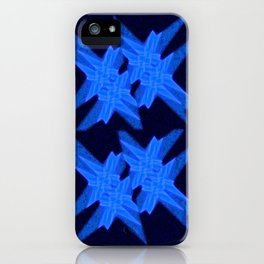 Blue Crystals iPhone Case
