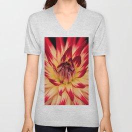 Flower red Unisex V-Neck