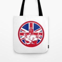 British Barber Union Jack Flag Icon Tote Bag