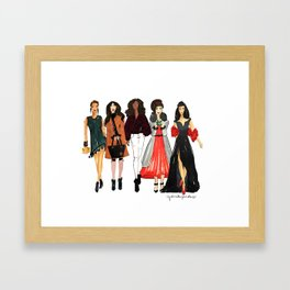 Glam Girls, Pinales Illustrated Framed Art Print