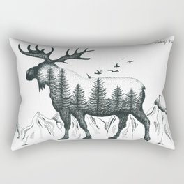 Mountain Moose Rectangular Pillow