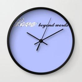 Love Beyond Words (Light Blue) Wall Clock