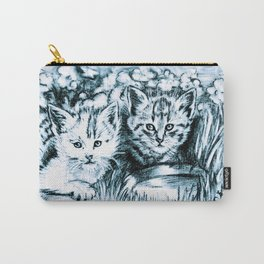 Blue Baby Cats Carry-All Pouch