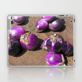 Fresh Aubergines - Market - Sicily Laptop & iPad Skin