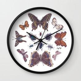 Mosaic of Bugs Wall Clock