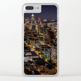 Seattle Nights Clear iPhone Case