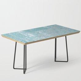 Galvanized Vintage Metal Blue Coffee Table