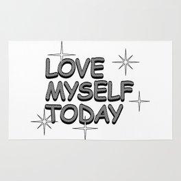 love myself today Rug
