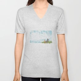Up above the clouds | Miharu Shirahata Unisex V-Neck