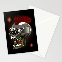 the skull and the snake Stationery Cards