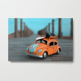 Little Cars, Big Planet (70's) Metal Print