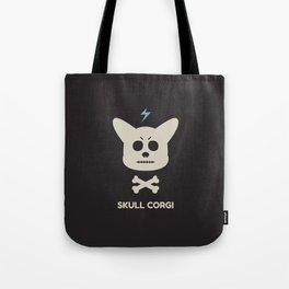skull corgi Tote Bag