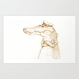 Sailor Gator  Art Print