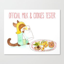 Official Milk and Cookies Tester Canvas Print