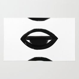sleepy eye - all-seeing eye Rug
